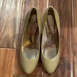 Coach Nude patent leather heels